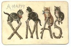 Christmas greeting card circa 1885.