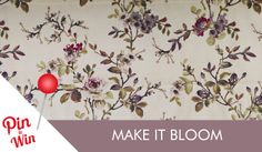 Make it Bloom - Fabulous florals and bold botanicals create an outdoors inspired look #Style #IdealHomeShow #PinToWin #Competition #Interiors