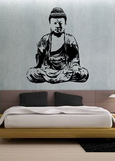 Buddha uBer Decals Wall Decal Vinyl Decor Art by uBerDecals