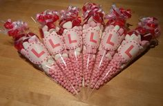 Hen Night Favour Gift Cones Pre-Filled with Sweets - Hen Party - Made to Order in Home, Furniture & DIY, Celebrations & Occasions, Party Supplies Hen Party Favours, Hen Party Bags, Hen Night Ideas, Hen Ideas, Hen Nights, Best Bridesmaid Gifts, Bridesmaids, Sweet Cones, Making Ideas