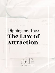 Dipping My Toes: The Law of Attraction
