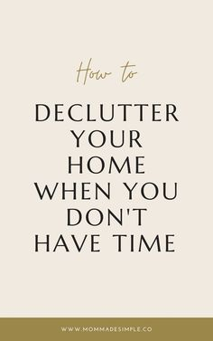 Motherhood can feel so full and those piles that you need to get through keep getting pushed further down the list. But I want to tell you, decluttering doesn't need to take you hours or feel super complicate. I want to teach you how to clear the clutter in your home when time feels stretched really thin. #simplified #clutter #decluttering #motherhood I Really Want You, You Dont Want Me, Just Do It, Things I Want, Told You So, Feeling Blah, Feeling Stressed, Tomato Vine, Create A Family