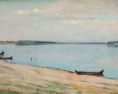 Boats on the Shore of Danube - Constantin Artachino