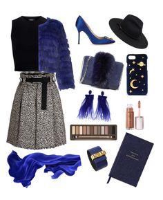 """BLUE"" by mercantichiara on Polyvore featuring Theory, Alice + Olivia, Manolo Blahnik, Loeffler Randall, CHARLES & KEITH, Urban Decay, Smythson, Oscar de la Renta and Hermès"