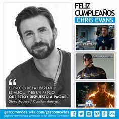 Felicitamos hoy a #ChrisEvans por sus 34 años.