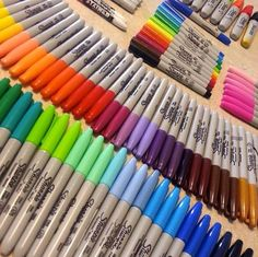 Find images and videos about colors and Sharpie on We Heart It - the app to get lost in what you love. Arte Sharpie, Sharpie Colors, Marker Storage, Study Room Decor, Cool School Supplies, School Suplies, Stationary Store, Art Studio Design, School Tool