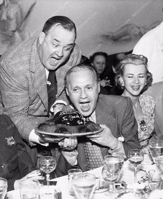 photo Jack Benny Don Wilson Mary Livinstone dining out 3402-14