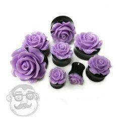 Purple Rosebud Flower Plugs