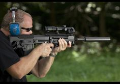 The Kel Tec RFB (Rifle, Forward-ejecting Bullpup).  An ingenious ambidextrous bullpup profiled rifle chambered in .308/7.62x51mm NATO, the RFB is balanced, lightweight, powerful, compact, and adaptable to a wide variety of applications.