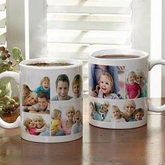 Create your own coffee mug with a photo collage of 8 of your favorite pictures!