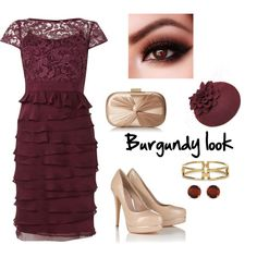 """Burgundy look"" by diseneitorforever on Polyvore"