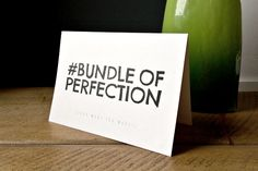 Your fortnightly favourite: #bundleofperfection card – Kerry Lyons Co. #design #designgeek #ireland #uk #giftware #gifts #homeware #stationery #interiors #interiordesign #graphicdesign