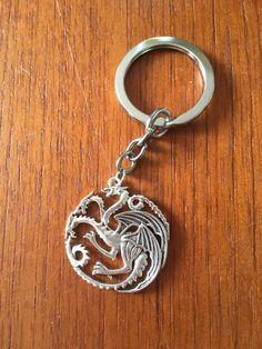 Game of Thrones Keyring Targaryen sigil by GiftoftheGeek on Etsy