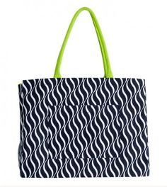 One the Go Tote- Black/Lime - Clever Girl