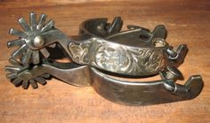 """Pair of custom spurs by Michael Tittor out of Paradise, TX. Stamped """"Tittor 226"""". $500.00-SR"""