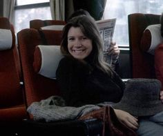 Carrie Fisher travelling by train to Finse Norway for the filming of Empire Strikes Back @retrostarwarsstrikesback
