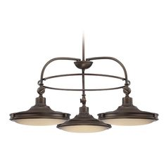 Nuvo Lighting LED Chandelier with White Glass in Antique Brass Finish 62/162