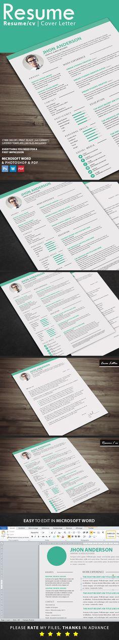 Resume Cv template, Resume cv and Creative cv template - buy a resume