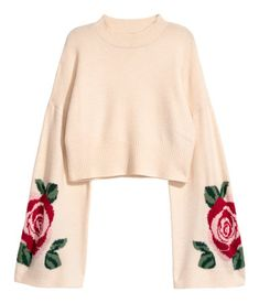 Knit Sweater | Light beige | WOMEN | H&M US