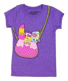 Look what I found on #zulily! Purple Shopkins™ Purse Tee - Girls by Shopkins™ #zulilyfinds