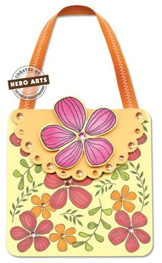 Hero Arts Cardmaking Idea: Flower Purse