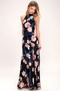 Lovely Embroidered Maxi Dress - Wine Red and Black Dress - Sheer Maxi Dress - $154.00