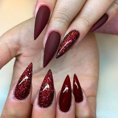 Glamorous Stiletto Nail Designs Youll Adore ★ See more…