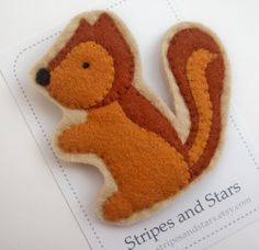 Felt Squirrel Brooch - no pattern