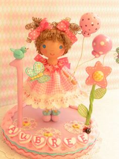 SampleAll  Pigtails and Gingham by SweetiePieCaketopper on Etsy, $110.00