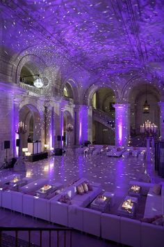 Purple starry night lighting. Imagine this with a spot light on you guys when you do your first dance! OMG! AMAZING! @ariesstarr06