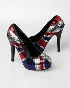 Iron Fist Jacked Up Platform Heels - British Flag