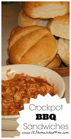 Crockpot BBQ Sandwiches are super easy to make and are delicious! #crockpot #recipes #slowcooker