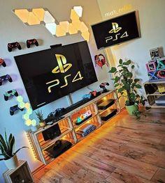 Nerd Room, Gamer Room, Boys Game Room, Boy Room, Small Game Rooms, Gaming Room Setup, Gaming Rooms, Desk Setup, Bedroom Setup