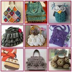 Maravillosos bolsos a crochet con sus patrones y tutoriales gratis http://www.arteydiversidades.com/2013/06/accesorios-de-crochet.html