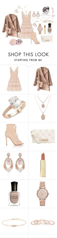 """Untitled #857"" by lilachswan ❤ liked on Polyvore featuring Notte by Marchesa, Carven, Saks Fifth Avenue, Gianvito Rossi, ZAC Zac Posen, Hueb, Axiology, Deborah Lippmann, Michael Kors and Kendra Scott"