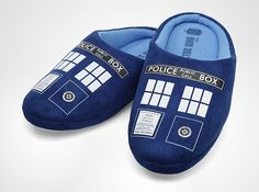 Doctor Who TARDIS Slippers - I NEED THESE