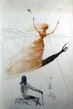 salvadore dali's alice in wonderland book | Illustration for Alice in Wonderland by Salvador Dalí