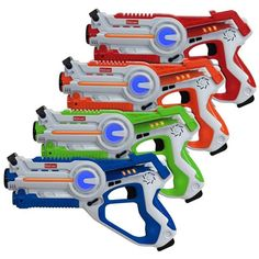 Kidzlane Infrared Laser Tag : Game Mega Pack - Set of 4 Players - Infrared Laser Gun Indoor and Outdoor Group Activity Fun. Infrared in Gag Toys & Practical Jokes.