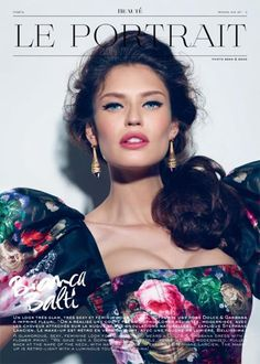 Bianca Balti going all out for Dolce Gabbana, in a pretty pink lip and eye makeup that stands out! - Glamtrotting Magazine