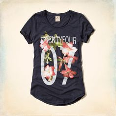 Girls Floral Number Graphic T-Shirt | Girls Tops | HollisterCo.com