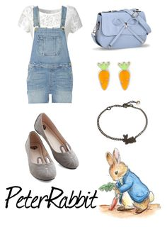 """Peter Rabbit"" by krusi611 ❤ liked on Polyvore featuring Alice & You, Frame Denim, T.U.K. and Rabbit Bag"