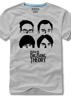 The Big Bang Theory T-shirt with the Beatles Comic printing | Buytra