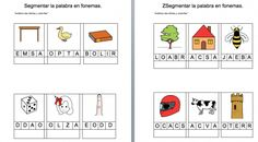 Actividades dislexia Segmentar la palabra en fonemas plantilla editable