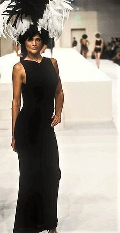 Helena Christensen walked for CHANEL Couture Runway Show 90's