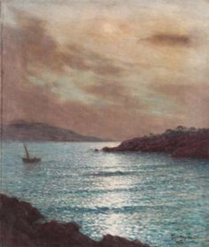"EAN KEULEYAN-LAFON (1886-1973, French)  ""Maine"", oil on canvas 21 1/2"" x 18""  Estimate: $500 - $700"