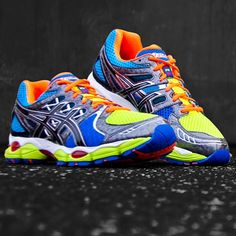 asics gel nimbus 14 men neon yellow