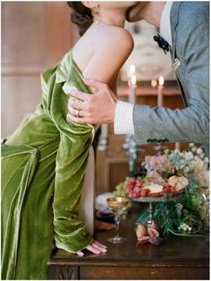 Elizabeth Messina Sinclair and Moore shoot 1 olive green velvet wedding photos Green Christmas, Christmas Colors, Christmas Eve, Xmas, Christmas Morning, Christmas Wedding, Christmas Themes, Old Money, We Are The World