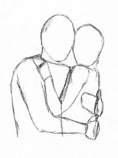 How To Draw People Hugging From Behind The Back Draw Pinterest