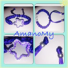 #lineamare#stella#strass#star#blu#cordinoinseta#Bracciale#bracelet#hewels#fattoamano#handmade#