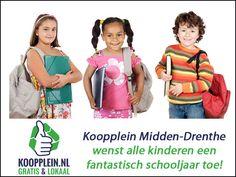 Koopplein Midden-Drenthe wenst alle kinderen een fantastisch schooljaar toe! De scholen zijn weer begonnen! Let dus goed op in het verkeer, er zijn weer overstekende scholieren! http://koopplein.nl/middendrenthe/2797674/koopplein-wenst-alle-kinderen-heel-veel-succes.html
